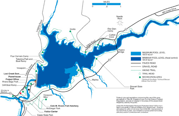 Portland district locations rogue river lost creek for Take me fishing lake locator