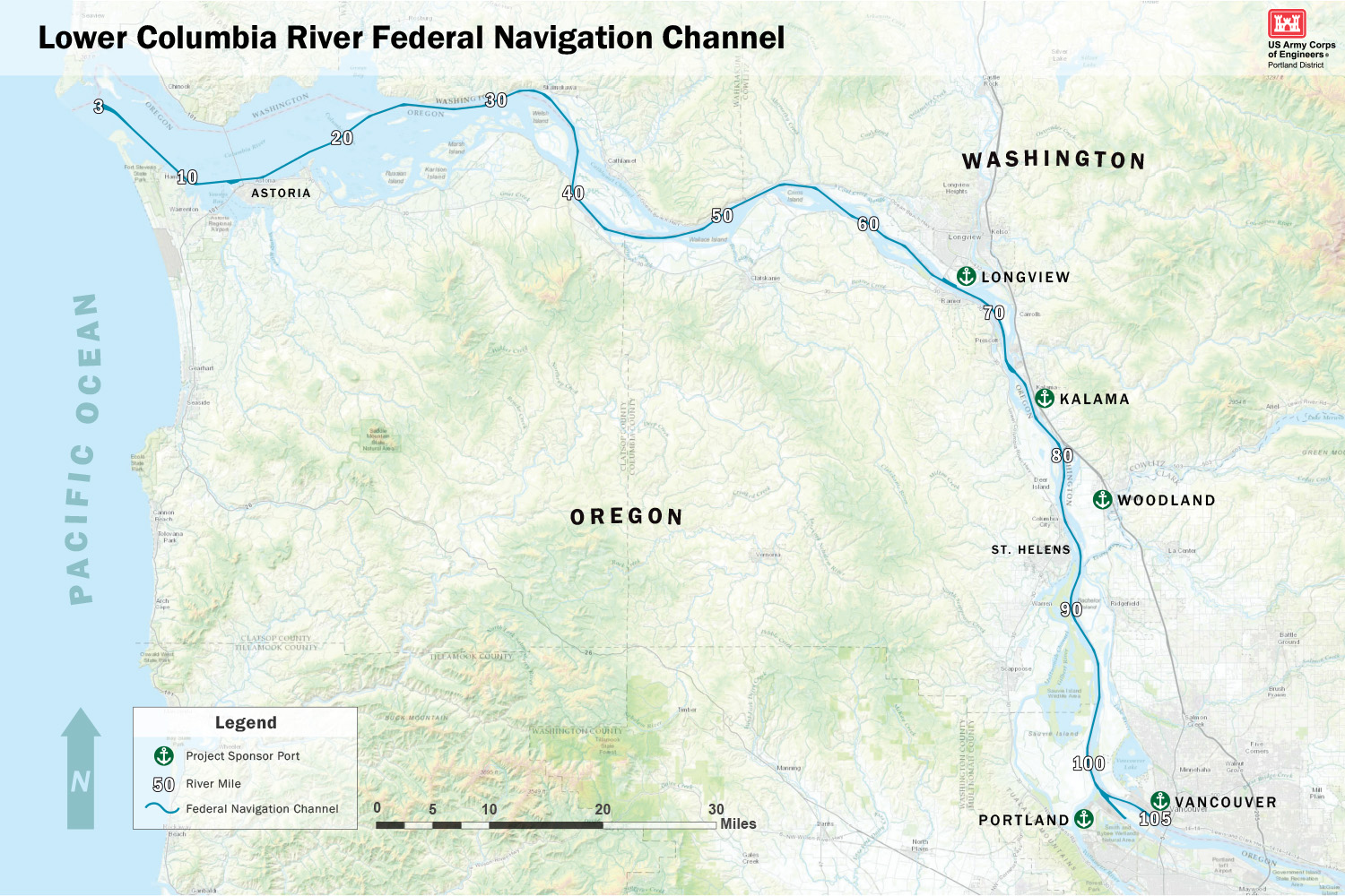 Portland District > Missions > Navigation > Channels > Lower ...