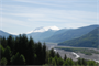 Mount St. Helens and the upper North Fork of the Toutle River in Washington.