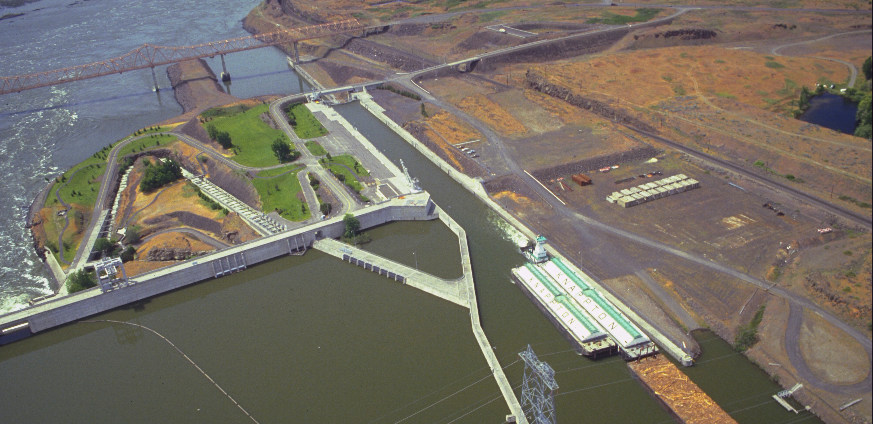 Navigation lock at The Dalles Dam