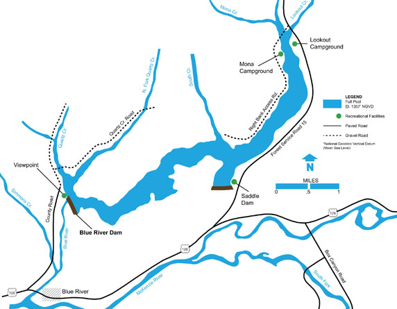 Blue River area recreation map