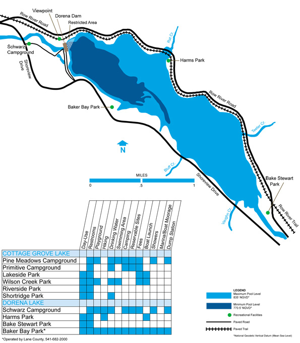 Dorena Dam map